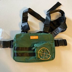 Live Fit Tactical Chest Rig- Green NIP Fitness Bag